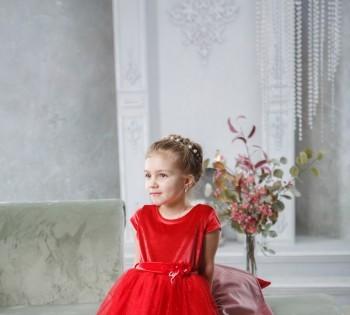 Фотография девочки в красивом платье. Фотостудия Птичка.