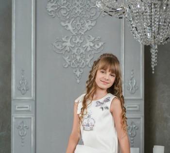 Детская фотосессия для рекламы одежды.