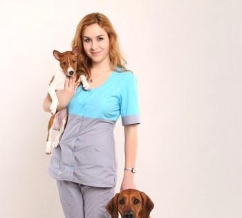 Деловой портрет для женщины ветеринара.