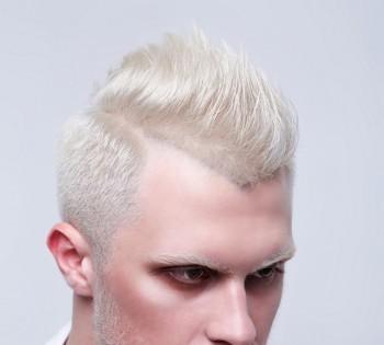 Фотосъемка прически. Образ брутального блондина. Креатив салона красоты