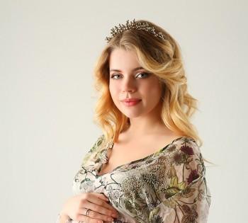 Женственная фотография беременной девушки. Фотосъемка беременности. Фотограф Лариса Дубинская. Днепр