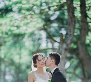 Свадебная съёмка в сосновом лесу. Днепр