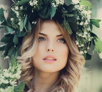 Невеста в необычном образе. Лесная нимфа.