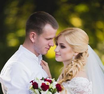 Красивые свадебные фотографии на природе. Днепр.