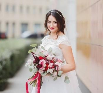 Портрет невесты во время прогулки