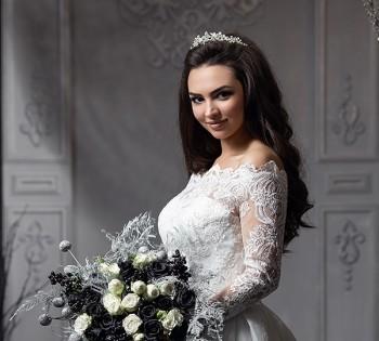Портрет невесты в студии. Свадебный фотограф в Днепре.