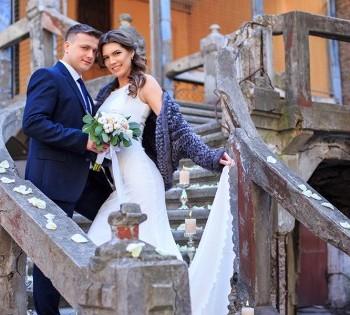 Красивая свадебная фотосессия на улице. Свадебный фотограф в Днепре.