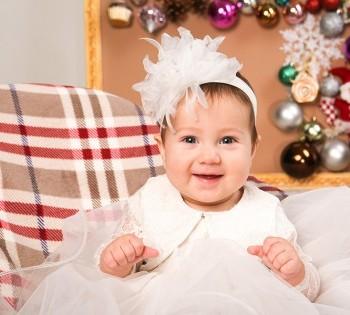 Фотосъемка для малышки к новому году.  Новогодние декорации в фотостудии Птичка.