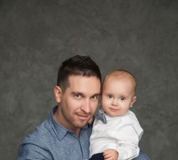 Фотосъёмка папы и сынишки