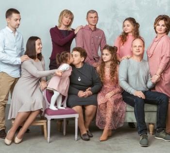 Фотосессия большой семьи.