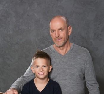 Фотосессия для дедушки и внука.