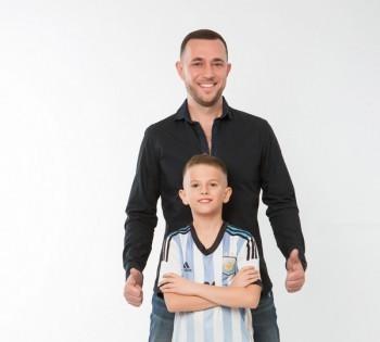 Фотосессия для папы и сына.