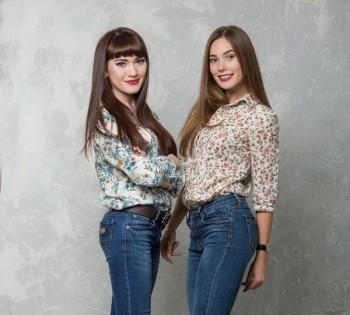 Фотосессия для двух сестёр. Семейная фотосессия.