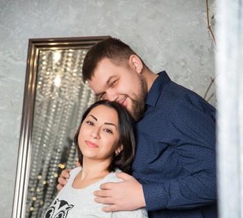 Новогодняя фотосессия для семейной пары.
