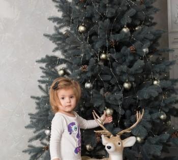 Новогодняя фотосессия с очаровательной малышкой.