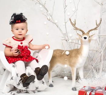 Чудесная малышка в новогодней фотосессии.