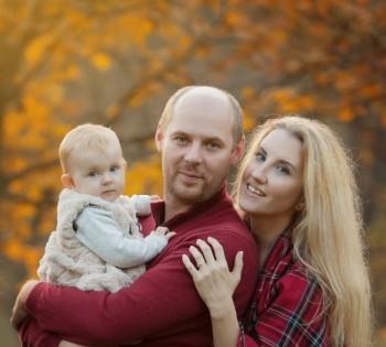 Семейная фотосессия на природе. Выездные фотосессии в Днепре.